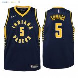 Maillot NBA Enfant Indiana Pacers NO.5 Edmond Sumner Marine Icon 2018 Pas Cher