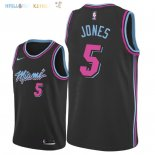 Maillot NBA Miami Heat NO.5 Derrick Jones Nike Noir Ville 2018-2019 Pas Cher