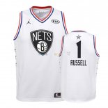 Maillot NBA Enfant 2019 All Star NO.1 DAngelo Russell Blanc Pas Cher