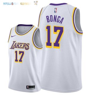 Maillot NBA Los Angeles Lakers NO.17 Isaac Bonga Blanc Association 2018-2019 Pas Cher