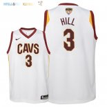 Maillot NBA Enfant Cleveland Cavaliers Finales Champions 2018 NO.3 George Hill Blanc Association Patch Pas Cher