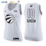 Maillot NBA Femme 2018 All Star NO.10 DeMar DeRozan Blanc Pas Cher