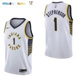 Maillot NBA Indiana Pacers NO.1 Lance Stephenson Blanc Association 2017-2018 Pas Cher
