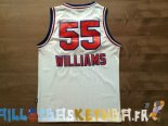 Maillot NBA Sacramento Kings NO.55 Jason Williams Retro Blanc Pas Cher