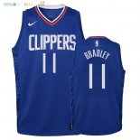Maillot NBA Enfant Los Angeles Clippers NO.11 Avery Bradley Bleu Icon 2018 Pas Cher