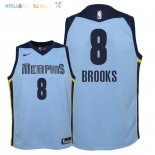 Maillot NBA Enfant Memphis Grizzlies NO.8 MarShon Brooks Bleu Statement 2018 Pas Cher