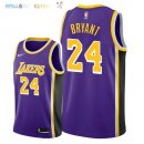 Maillot NBA Los Angeles Lakers NO.24 Kobe Bryant Pourpre Statement 2018-2019 Pas Cher
