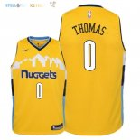 Maillot NBA Enfant Denver Nuggets NO.0 Isaiah Thomas Jaune Statement 2018 Pas Cher