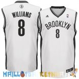 Maillot NBA Brooklyn Nets NO.8 Deron Michael Williams Blanc Pas Cher