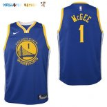 Maillot NBA Enfant Golden State Warriors NO.1 JaVale McGee Bleu Icon Pas Cher