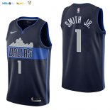 Maillot NBA Dallas Mavericks NO.1 Dennis Smith Jr Noir Statement 2017-2018 Pas Cher