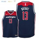Maillot NBA Enfant Washington Wizards NO.13 Thomas Bryant Marine Statement 2018 Pas Cher