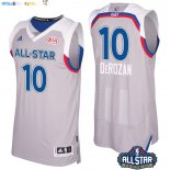 Maillot NBA 2017 All Star NO.10 Demar Derozan Gray Pas Cher
