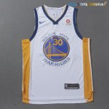 Maillot NBA Golden State Warriors Nike NO.30 Stephen Curry Blanc Pas Cher