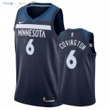 Maillot NBA Minnesota Timberwolves NO.6 Robert Covington Marine Icon 2018 Pas Cher