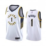 Maillot NBA Indiana Pacers Nike NO.1 T.J. Warren Gray Blanc Association 2019-20 Pas Cher