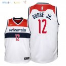 Maillot NBA Enfant Washington Wizards NO.12 Kelly Oubre Jr Blanc Association 2018 Pas Cher
