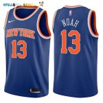 Maillot NBA New York Knicks NO.13 Joakim Noah Bleu Icon 2017-2018 Pas Cher