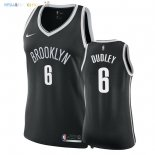 Maillot NBA Femme Brooklyn Nets NO.6 Jared Dudley Noir Icon 2018 Pas Cher
