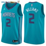 Maillot NBA Charlotte Hornets NO.2 Marvin Williams Vert Icon 2017-2018 Pas Cher