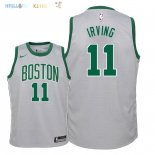 Maillot NBA Enfant Boston Celtics NO.11 Kyrie Irving Nike Gris Ville 2018 Pas Cher