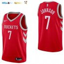 Maillot NBA Houston Rockets NO.7 Joe Johnson Rouge Icon 2017-2018 Pas Cher