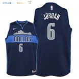 Maillot NBA Enfant Dallas Mavericks NO.6 DeAndre Jordan Noir Statement 2018 Pas Cher