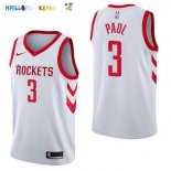 Maillot NBA Houston Rockets NO.3 Chris Paul Blanc Association 2017-2018 Pas Cher