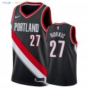 Maillot NBA Portland Trail Blazers NO.27 Jusuf Nurkic Noir Icon 2018 Pas Cher