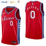 Maillot NBA Philadelphia Sixers NO.0 Jacob Pullen Rouge Statement 2017-2018 Pas Cher