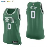 Maillot NBA Femme Boston Celtics NO.0 Jayson Tatum Vert Icon Pas Cher