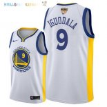 Maillot NBA Golden State Warriors 2018 Finales Champions NO.9 Andre Iguodala Blanc Pas Cher
