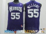 Maillot NBA Sacramento Kings NO.55 Jason Williams Purpura Pas Cher