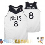 Maillot NBA Brooklyn Nets NO.8 Deron Michael Williams Blanc Noir Pas Cher