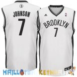 Maillot NBA Brooklyn Nets NO.7 Earvin Johnson Blanc Pas Cher
