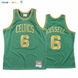 Maillot NBA CNY Throwback Boston Celtics NO.6 Bill Russell Vert 2020