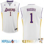 Maillot NBA L.A.Lakers NO.1 D'Angelo Russell Blanc Pas Cher