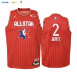Maillot NBA Enfant 2020 All Star NO.2 Lebron James Rouge