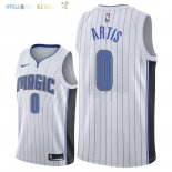 Maillot NBA Orlando Magic NO.0 Jamel Artis Blanc Association 2018 Pas Cher