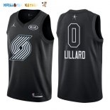Maillot NBA 2018 All Star NO.0 Damian Lillard Noir Pas Cher