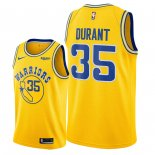 Maillot NBA Golden State Warriors Nike NO.35 Kevin Durant Jaune Ville Pas Cher 2018/19