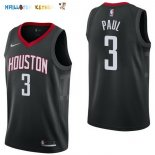 Maillot NBA Houston Rockets NO.3 Chris Paul Noir Statement 2017-2018 Pas Cher