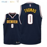 Maillot NBA Enfant Denver Nuggets NO.0 Isaiah Thomas Marine Icon 2018-19 Pas Cher