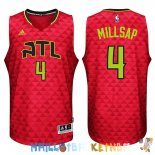 Maillot NBA Atlanta Hawks NO.4 Paul Millsap Rouge Pas Cher