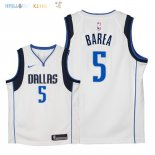 Maillot NBA Enfant Dallas Mavericks NO.5 J.J. Barea Blanc Association 2018 Pas Cher