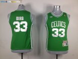 Maillot NBA Femme Boston Celtics NO.33 Larry Joe Bird Vert Pas Cher