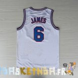 Maillot NBA Tune Squad NO.6 James Blanc Pas Cher