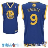 Maillot NBA Golden State Warriors NO.9 Andre Iguodala Bleu Pas Cher