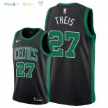 Maillot NBA Boston Celtics NO.27 Daniel Theis Noir Statement 2018 Pas Cher