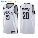 Maillot NBA Brooklyn Nets NO.20 Timofey Mozgov Blanc Association 2017-2018 Pas Cher